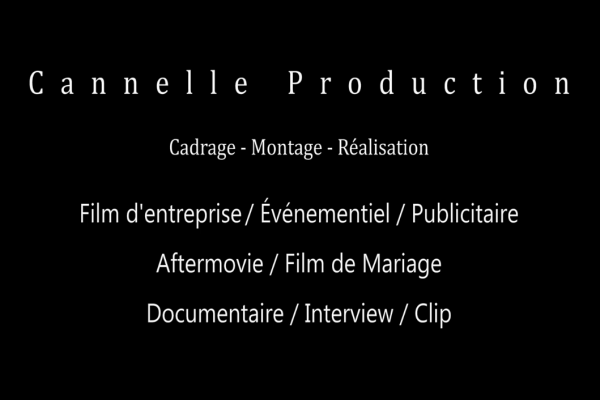 SHOWREEL Cannelle Production